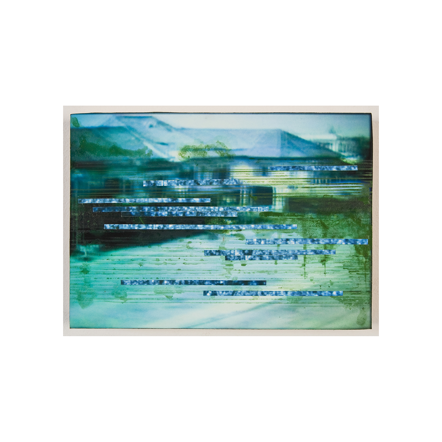 """village 1 , 2010, ink and archival inkjet print on panel,  5"""" x 7"""""""