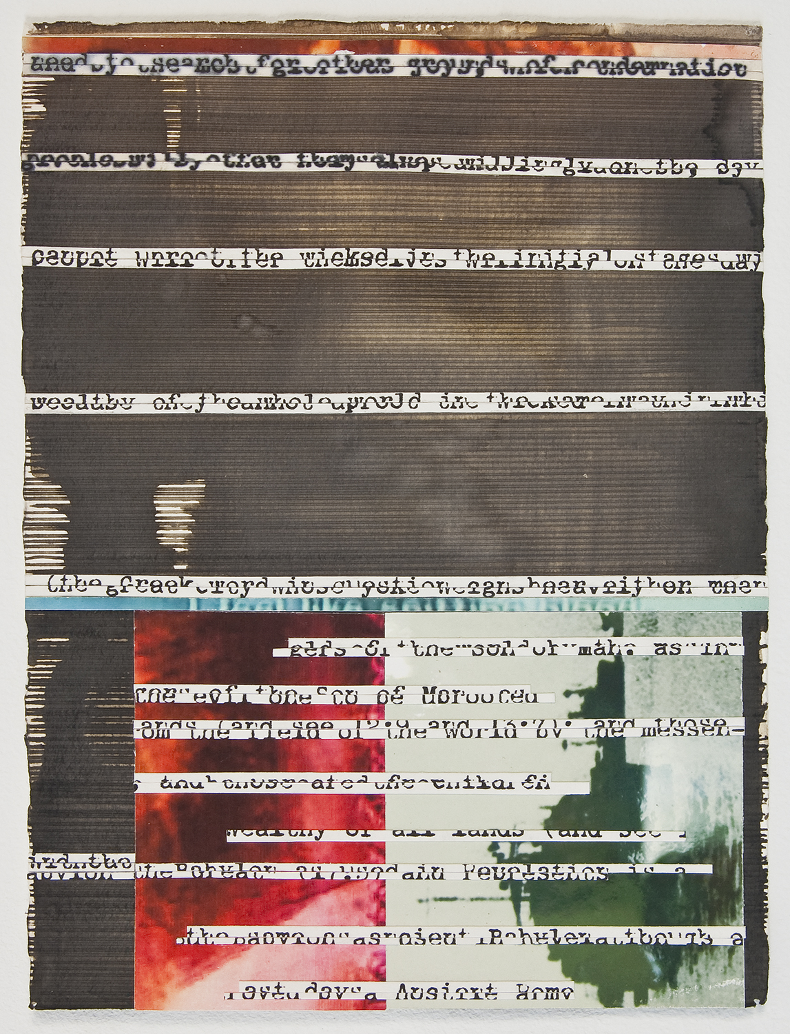 "initial stages  , 2010,   ink and archival inkjet collage,   6 "" x 7 7/8"""