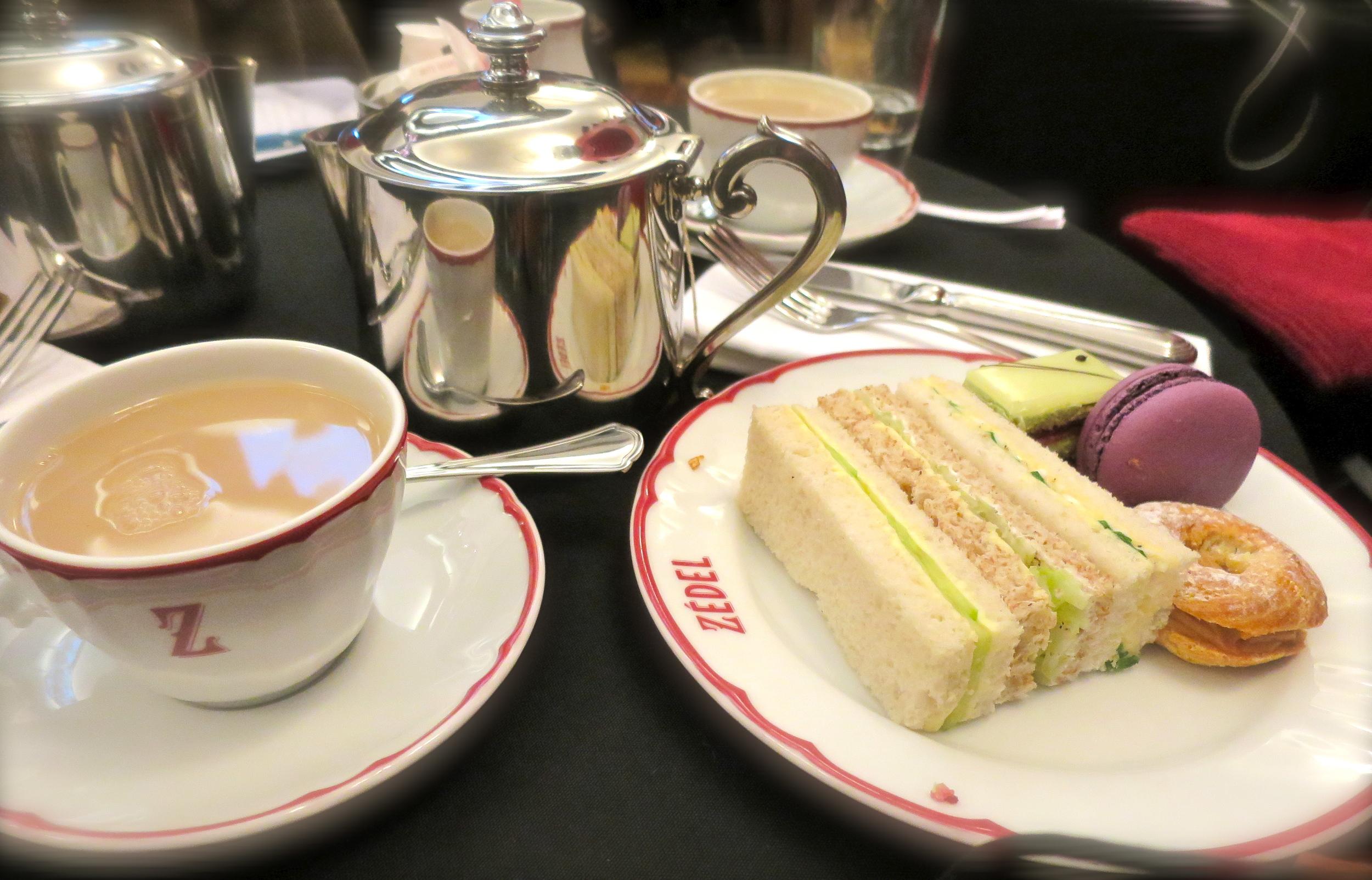 Delicious afternoon tea.