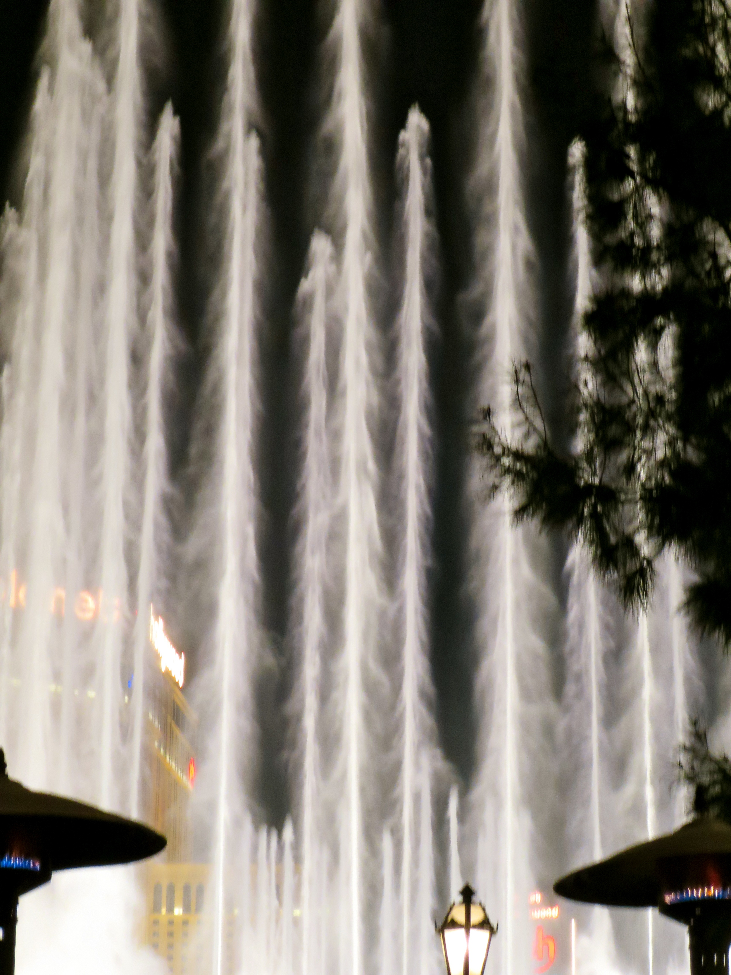 Amazing height of the fountains.