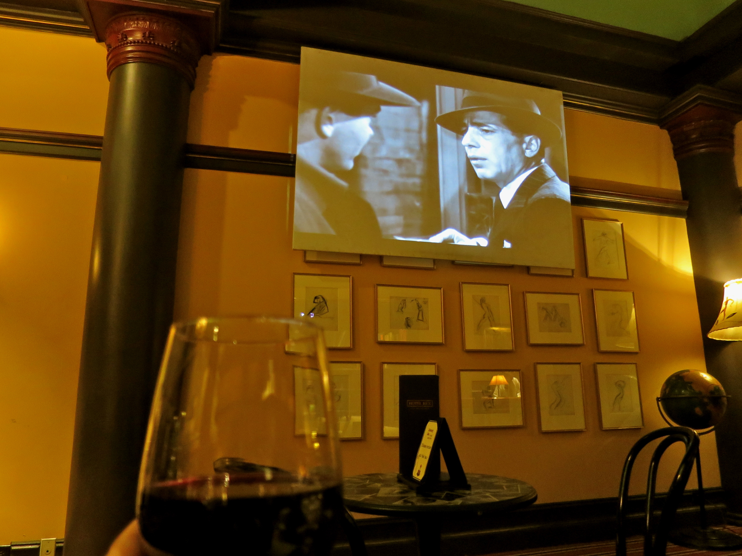 Dark Passage in the Library Bar with Humphrey Bogart.