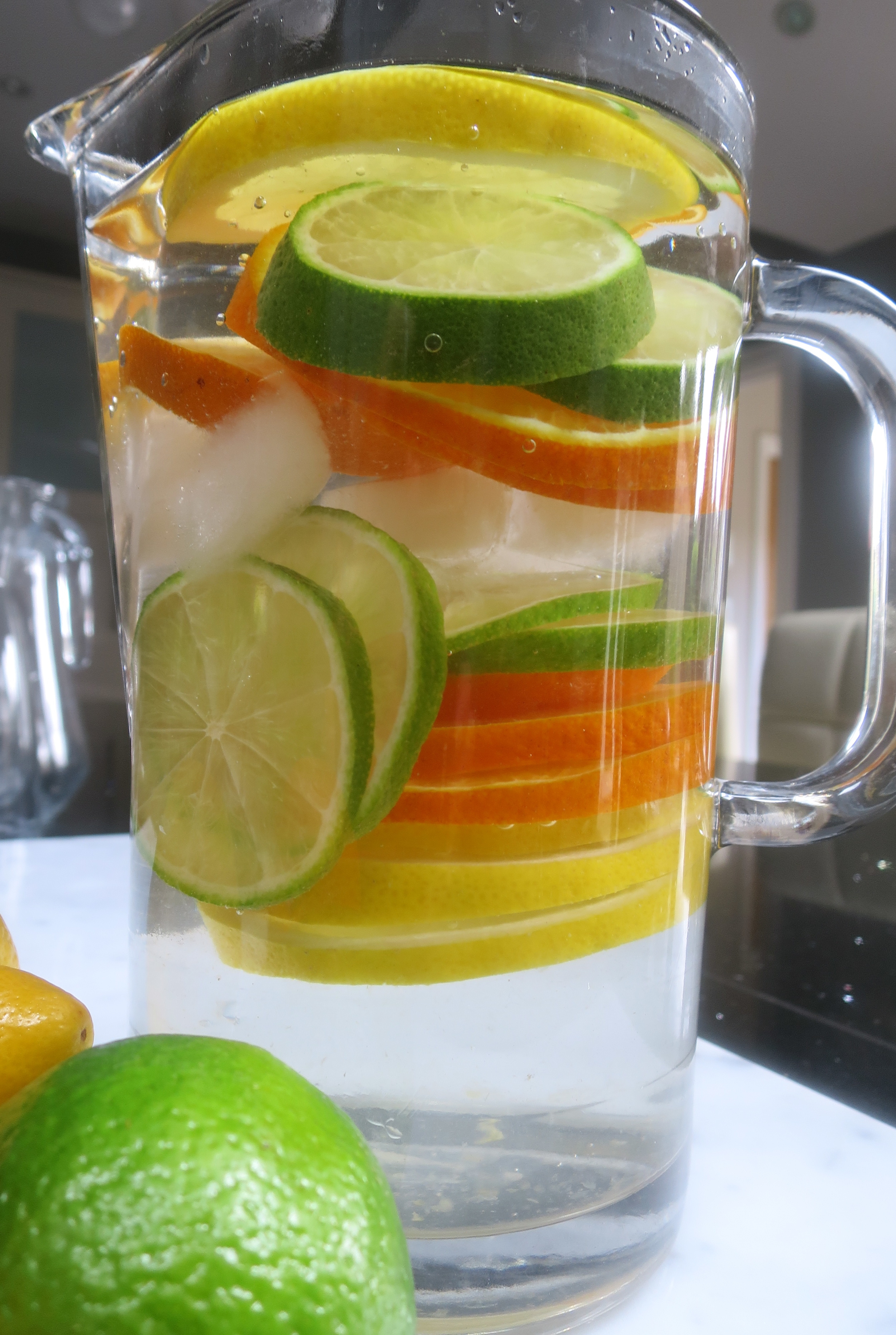 Lemon, Lime and Orange.