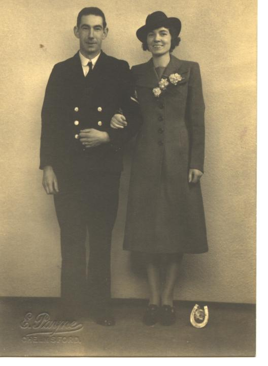 Great Uncle Harry and Aunt Ivy on their Wedding day.