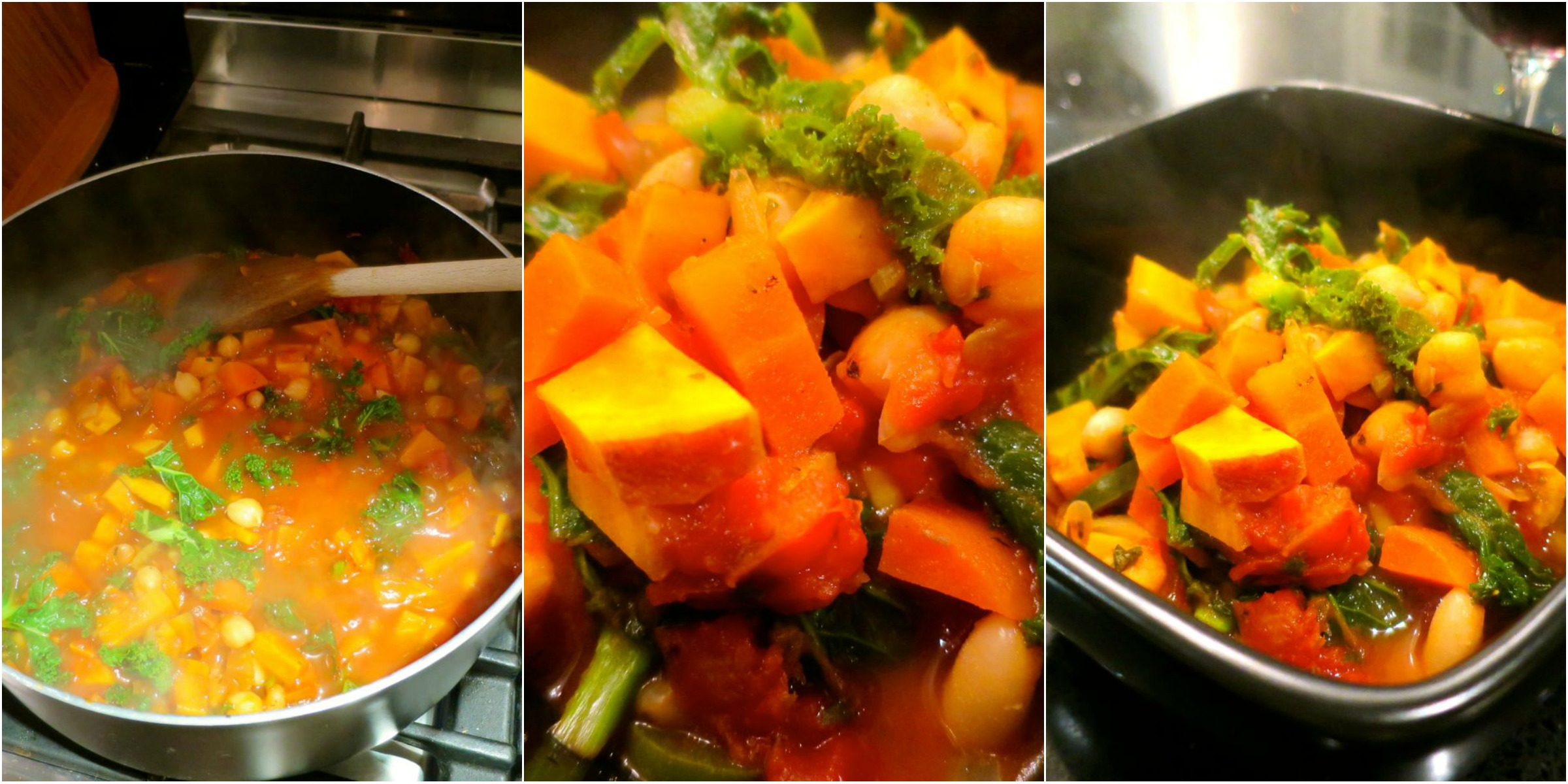 Warming Kale and Chickpea Stew