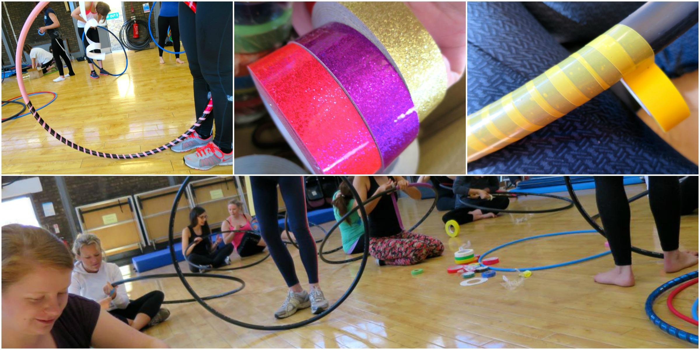 Decorating The Hula Hoops