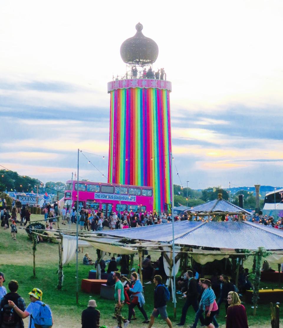 Glastonbury Festival Ribbon Tower