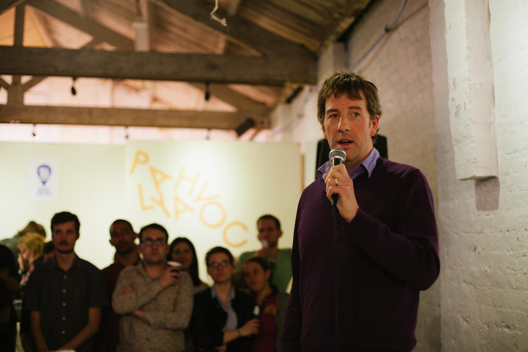 John-Paul Flintoff Speaking At The Year Here Event: CopyrightSam Boyd -@samboyd1
