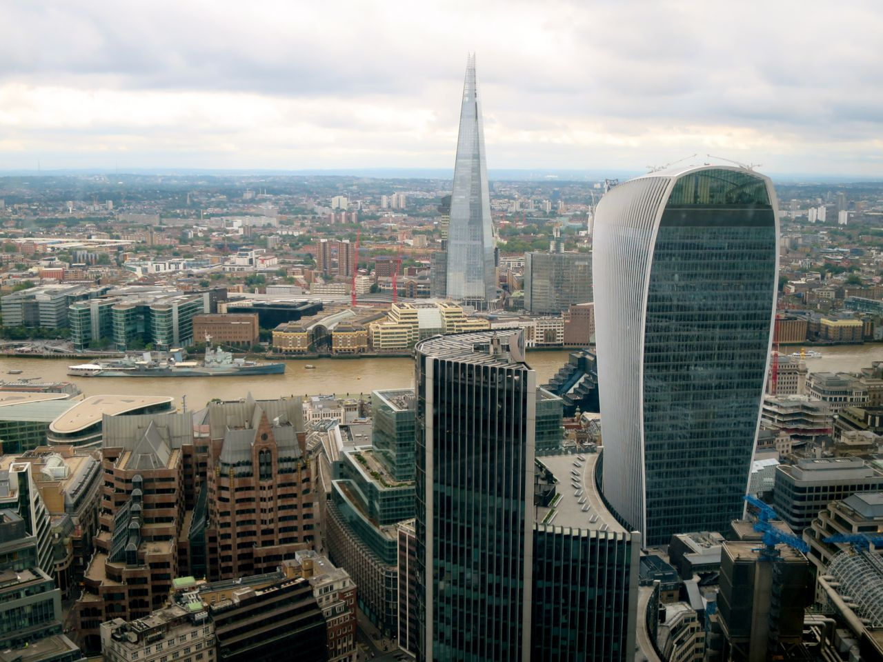 Shard and Walkie Talkie River View