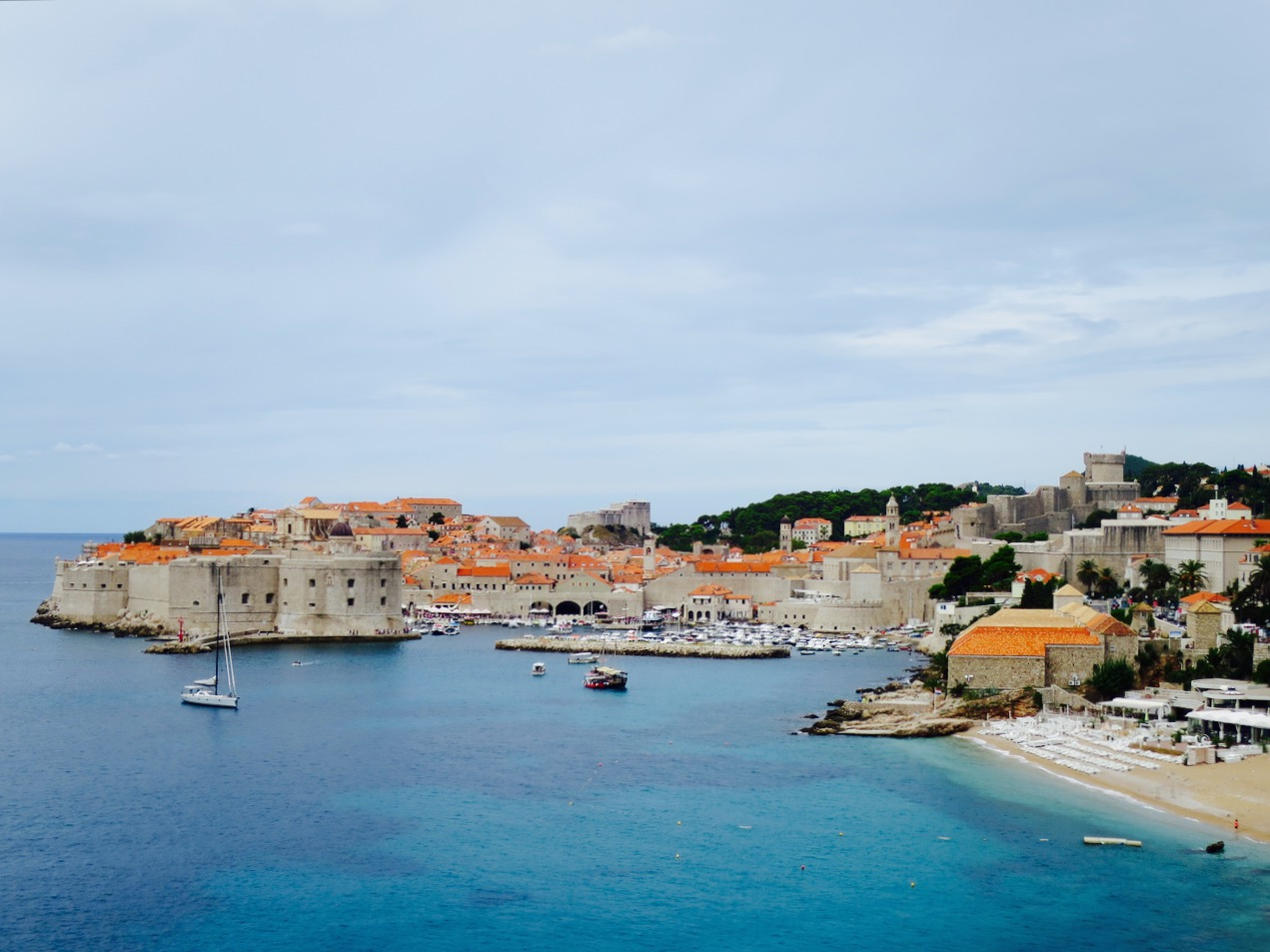Dubrovnik Old Town Harbour View