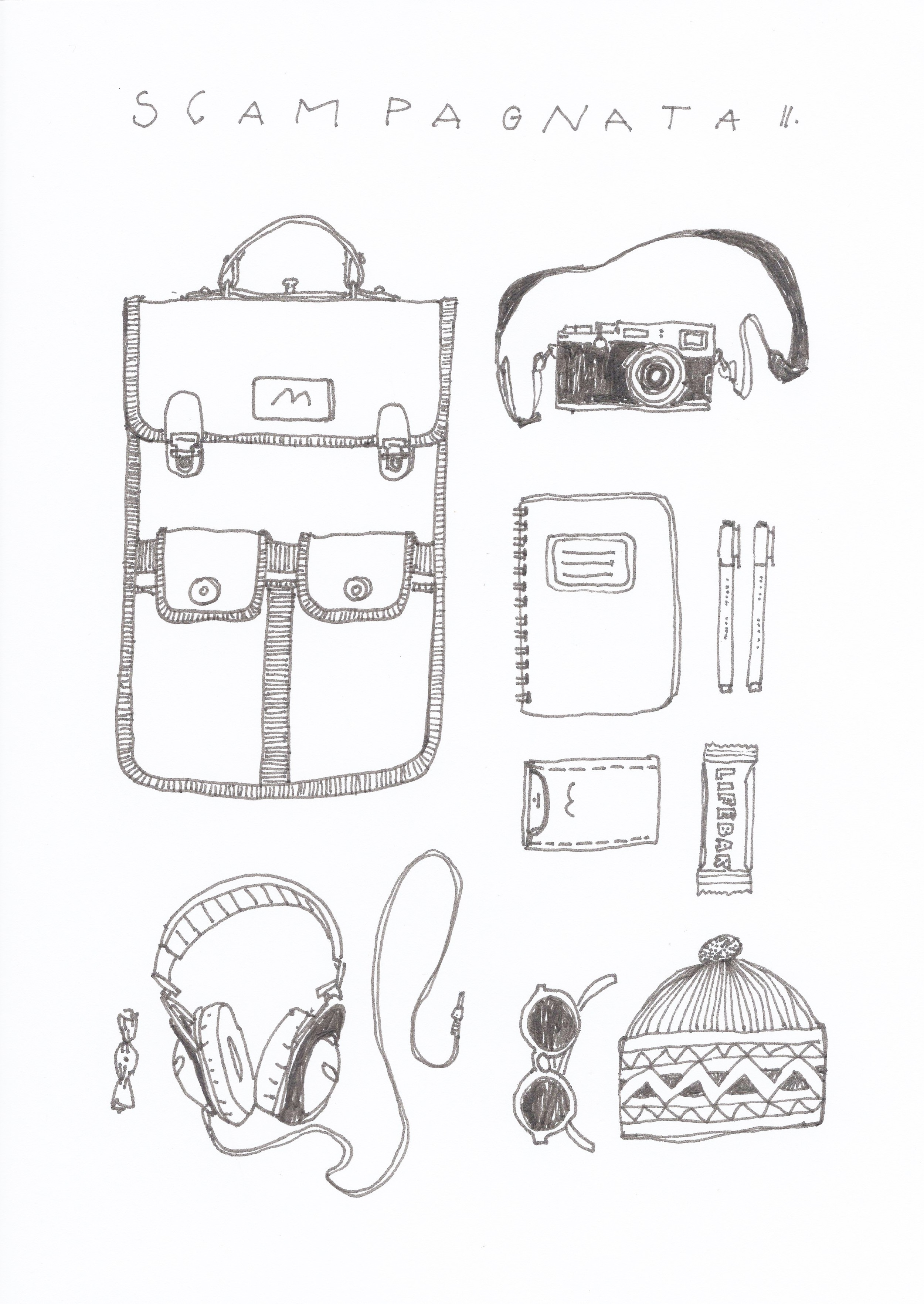 Batůžky jsou pokračováním piknikové řady SCAMPAGNATA tentokrát určené na víkendové výlety z města do přírody.