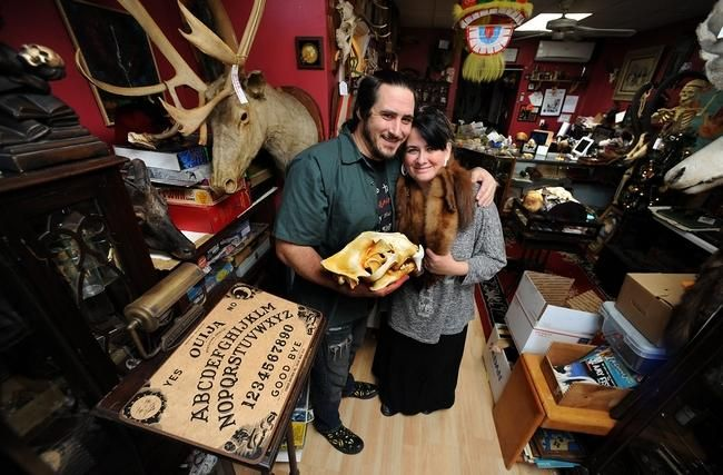 Greg and Heather Bowser, owners of Pandora's Box in Milford. Daily News Staff Photo / Allan Jung