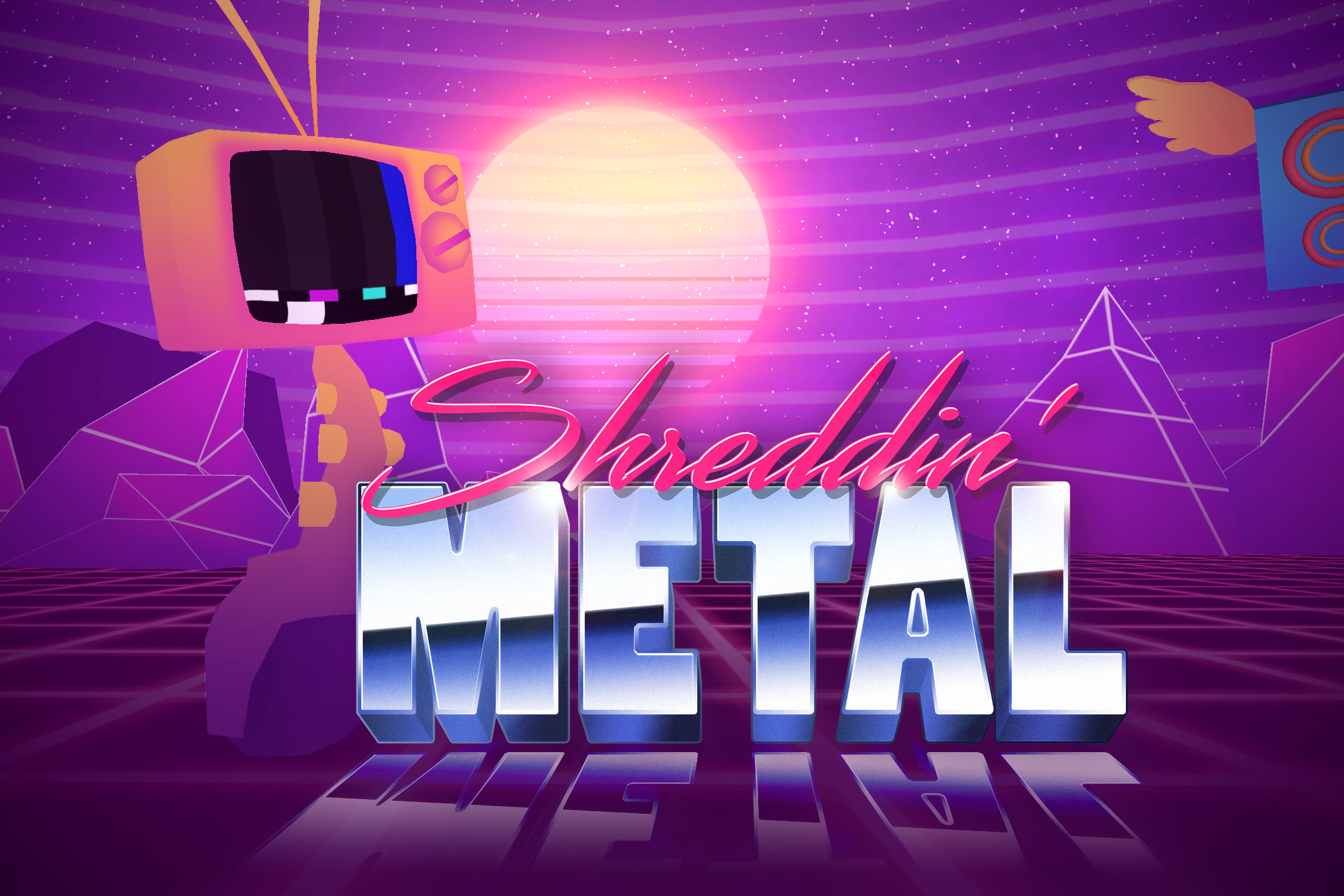 Shreddin' Metal    - November 2017 -   Typing of the Dead meets Guitar Hero meets Vaporwave meets VR!  Made during the weekend VR Austin Jam 2017. I worked on the robot character art, animation and vfx.
