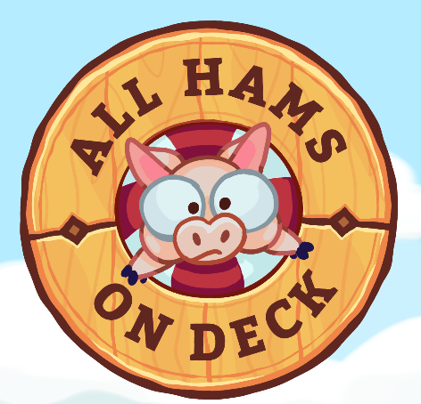 All Hams On Deck  -  May 2019 - Present  -  Help a nautical pig stay onboard as a fiendish whale launches obstacles to knock you away!  All Hams On Deck is a mobile game made by The Bread & Butter Game Co. I worked on vfx, some technical art roles such as shaders and color-grading as well as organizational help.