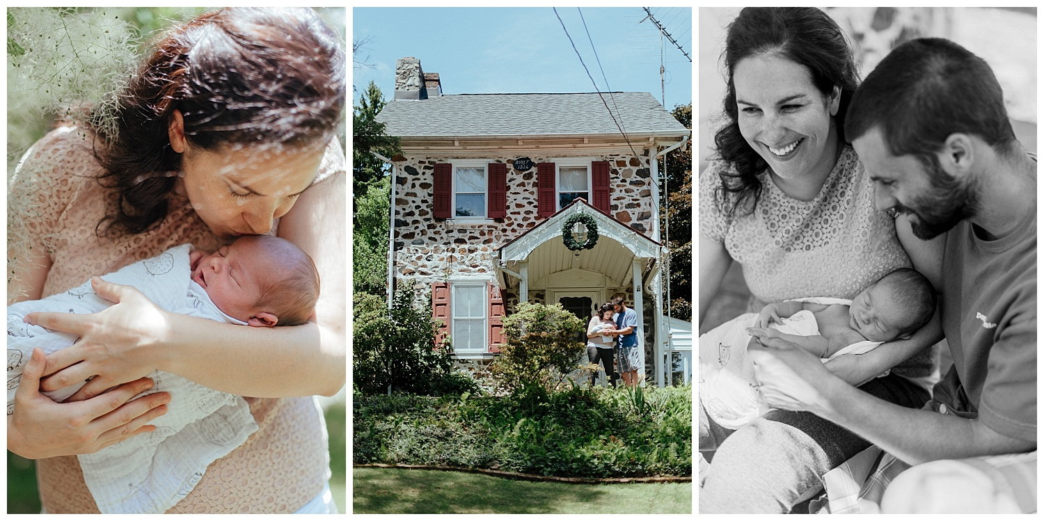 An in-home documentary and portrait family photography session in Coopersburg, PA