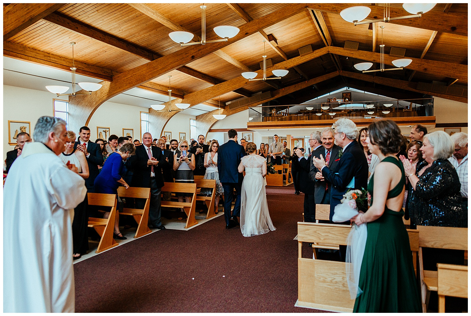 Beautiful spring wedding at St. Alphonsus Church and St. Cyril Jerusalem Social Hall in Jamison, Pennsylvania.