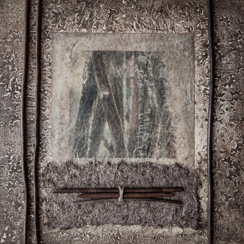 photograph, kozo paper, acrylic medium, wood