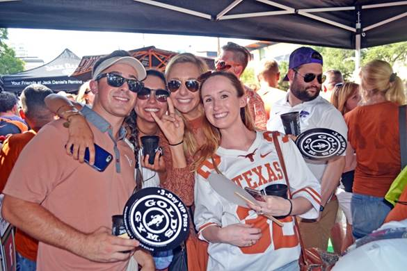 UT Football Tailgates  before all 6 of the Longhorn's home games. Complete with tents, beer and fans.