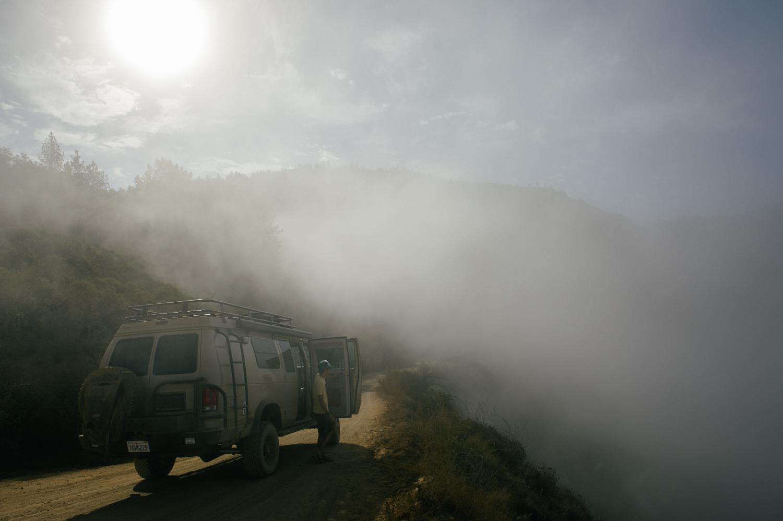 Leaving through the fog