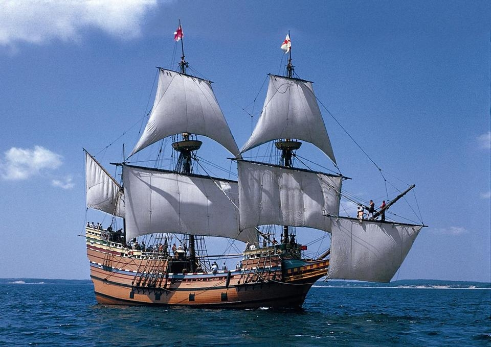 Mayflower II at Sea