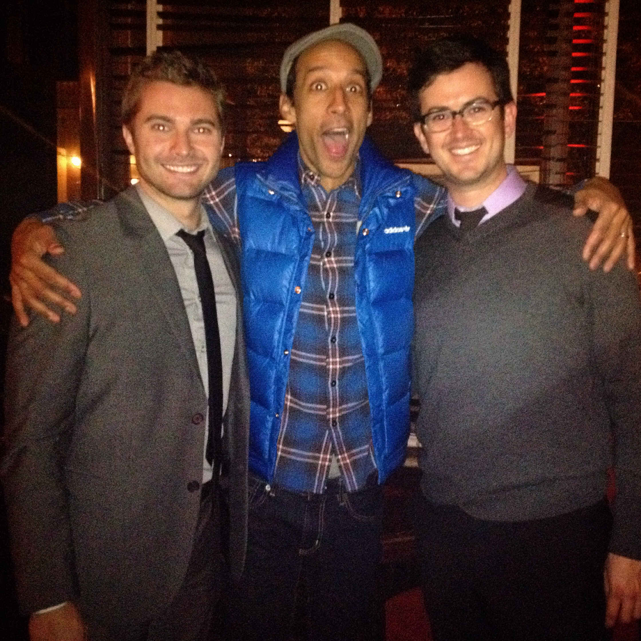 Richie and Matt with Danny Pudi