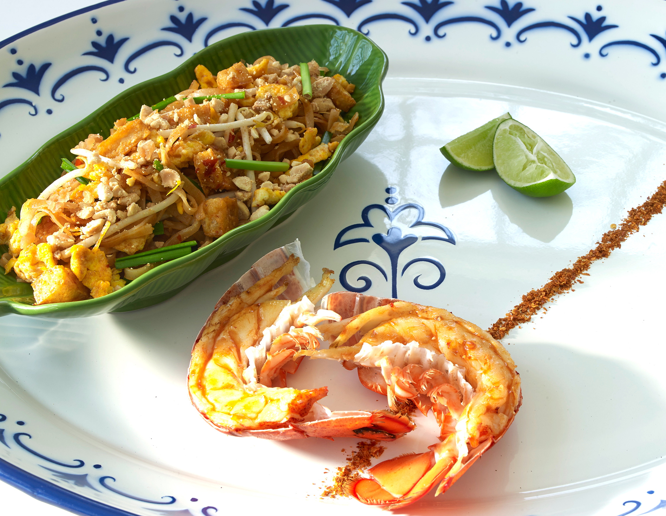 Pad Thai with Grilled Lobster