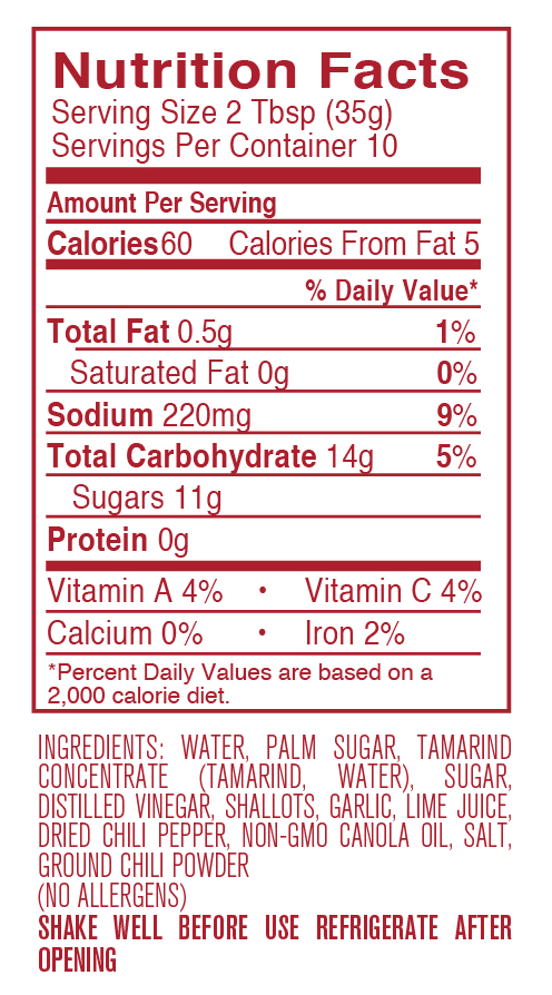 Pad Thai nutritional facts