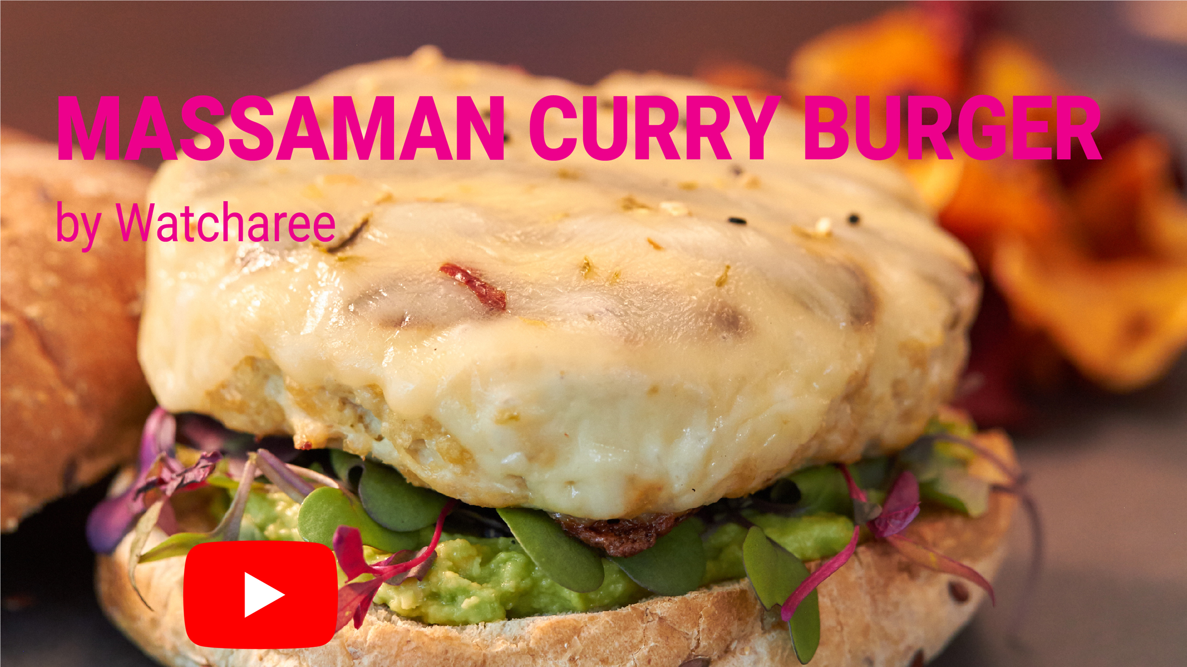Thai Massaman Curry Turkey Burger