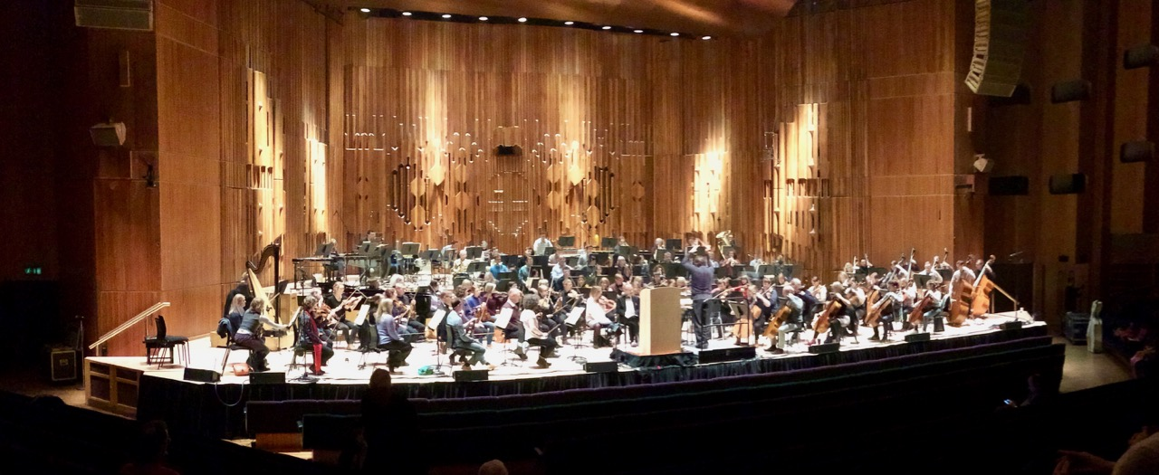 Rehearsals at the Barbican Hall. Photo: Steve Doherty