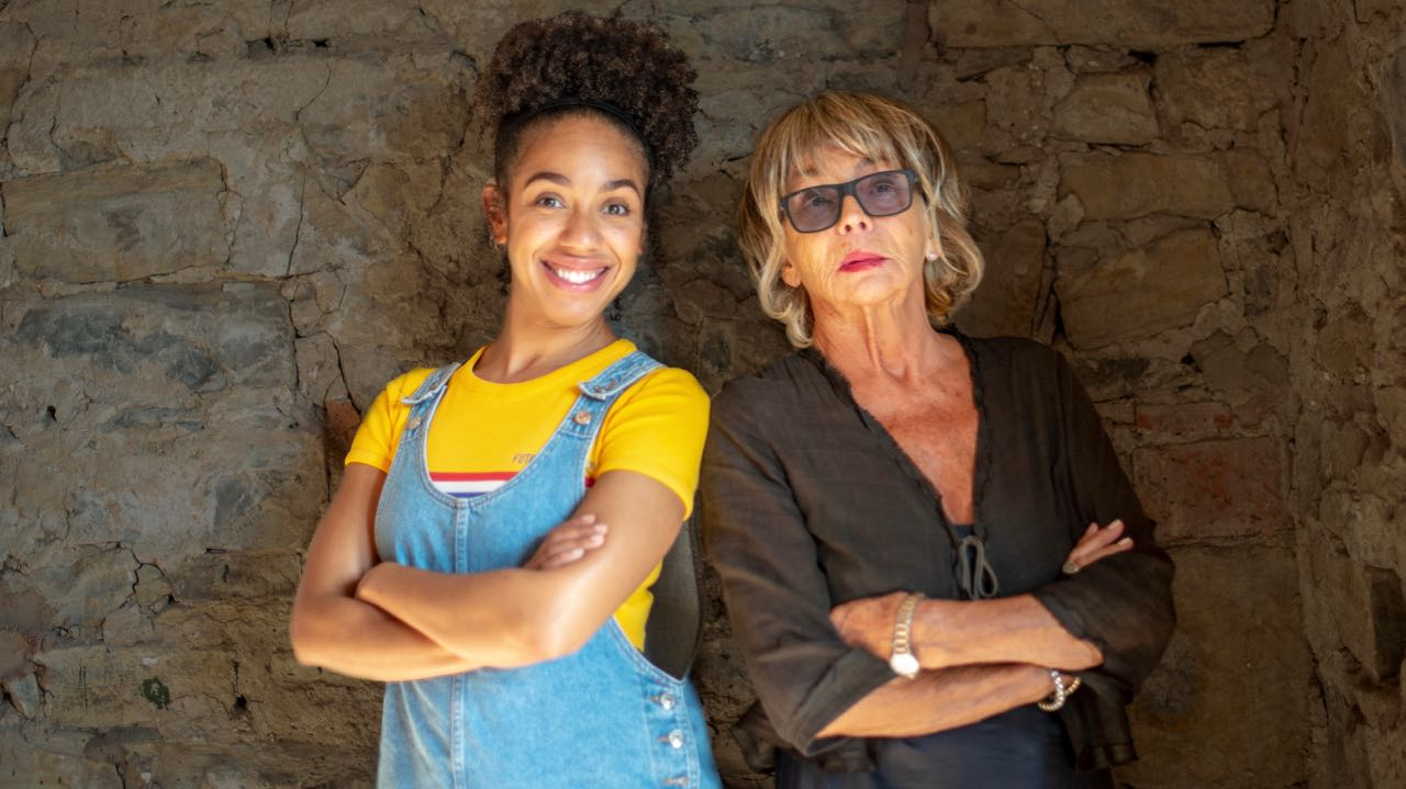 (L-R) Pearl Mackie and Sue Johnston