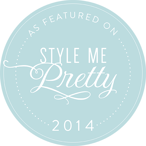 Featured on Style me Pretty 2014