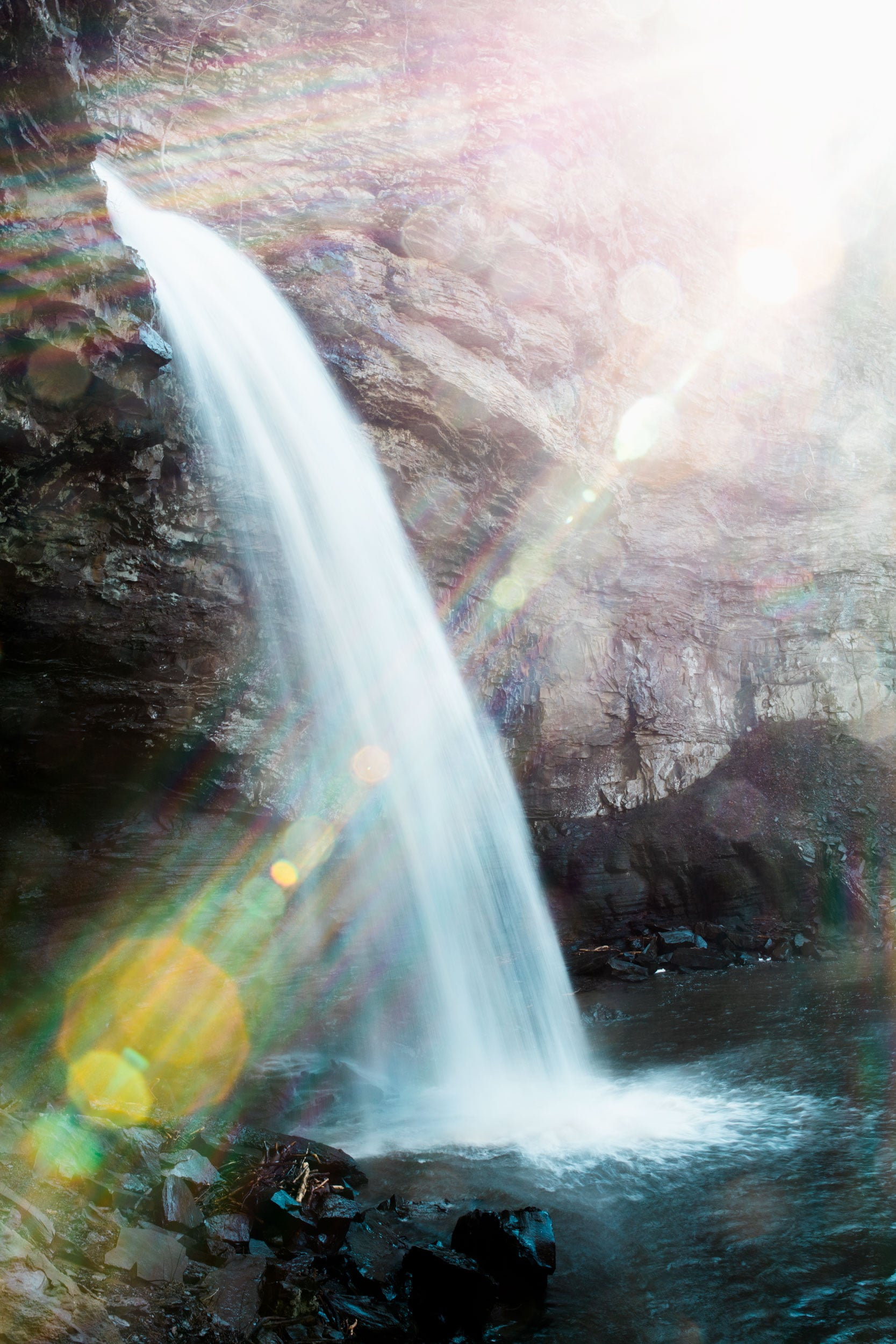 Light Flares at Cedar Falls