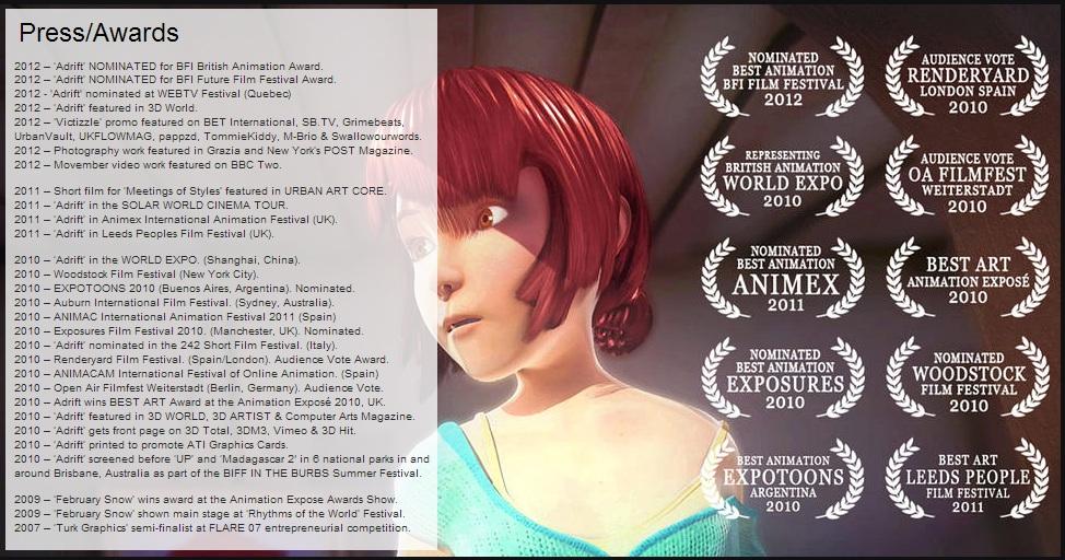 adrift, animation, 3d, maya, 3ds max, awards, festivals