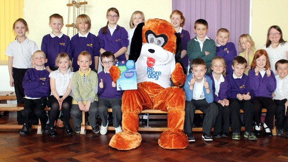 "The ""O2 dog"" with Selby Community Primary's school council Credit: Selby Times  Children at a school in Selby have been rewarded for recycling - by being given funds for a special nature garden.  The pupils, at Selby Community Primary School, took part in an assembly run by O2, who are encouraging youngsters and their parents to recycle their old mobile phones.  In return, for each device, the company are donating double their recycle value to develop a nature garden at the school.  Ian Clennan, headteacher at the school, said: ""The children are looking forward to planning and working on their garden. We welcome this great opportunity to raise funds to enable the children to develop the garden for their enjoyment whilst at the same time enhancing their knowledge of nature.  ""It is also a good opportunity to support O2 in their project to recycle phones and other electrical gadgets."""
