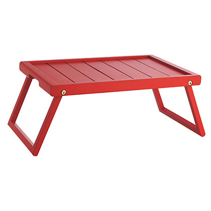 Habitat  -   Breakfast in bed anyone?    Tiffany Breakfast serving tray £20.00   Delivered within 3 days Product code: 102007 Colour: Red  http://www.habitat.co.uk/tiffany-red-wooden-folding-breakfast-tray/christmas-gifts//fcp-product/102007