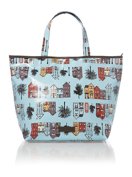 House of Fraser -Dickins & Jones  Zip Top Canvas Tote    Keep your essentials safe from the elements with this coated canvas tote from Dickins & Jones. A charming printed style, this bag has one large velcro-fastening pocket, two slit pockets and a top zipper fastening.            Was  £35.00 NOW £25.00     http://www.houseoffraser.co.uk/Dickins+Jones+Zip+top+canvas+tote/198668372,default,pd.html