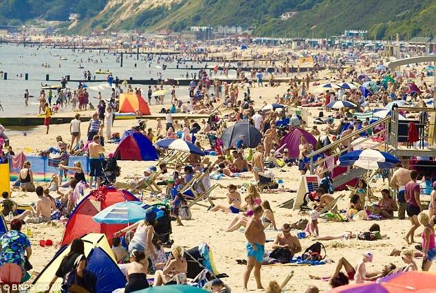 Popular tourist spot Scarborough in Yorkshire