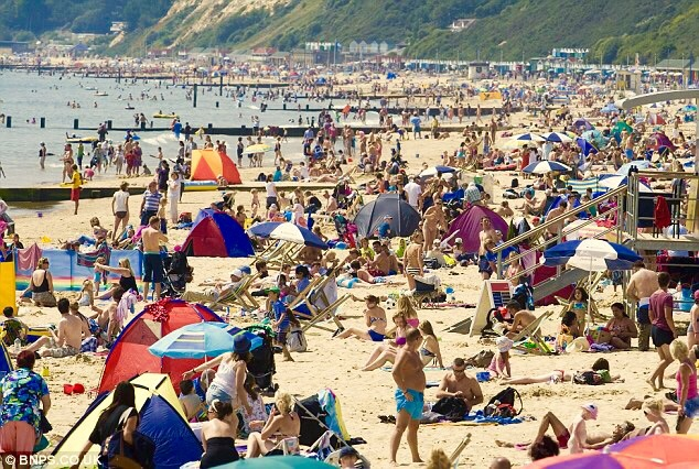 The glorious sands of Bournemouth beach sees people flock in their thousands, the university town is very popular with tourists in the South of England