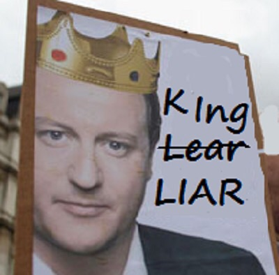 Cameron and his cabinet knowingly lied to the country during entire election campaign