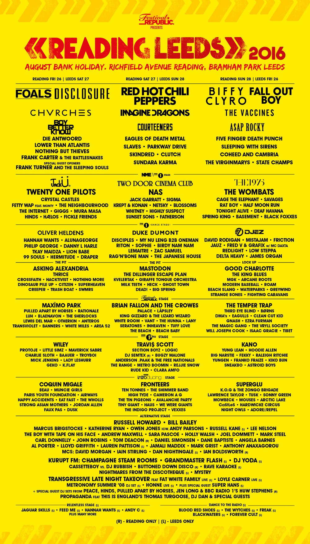 Get your hands on one of the last remaining weekend or day tickets here.  http://www.leedsfestival.com/tickets