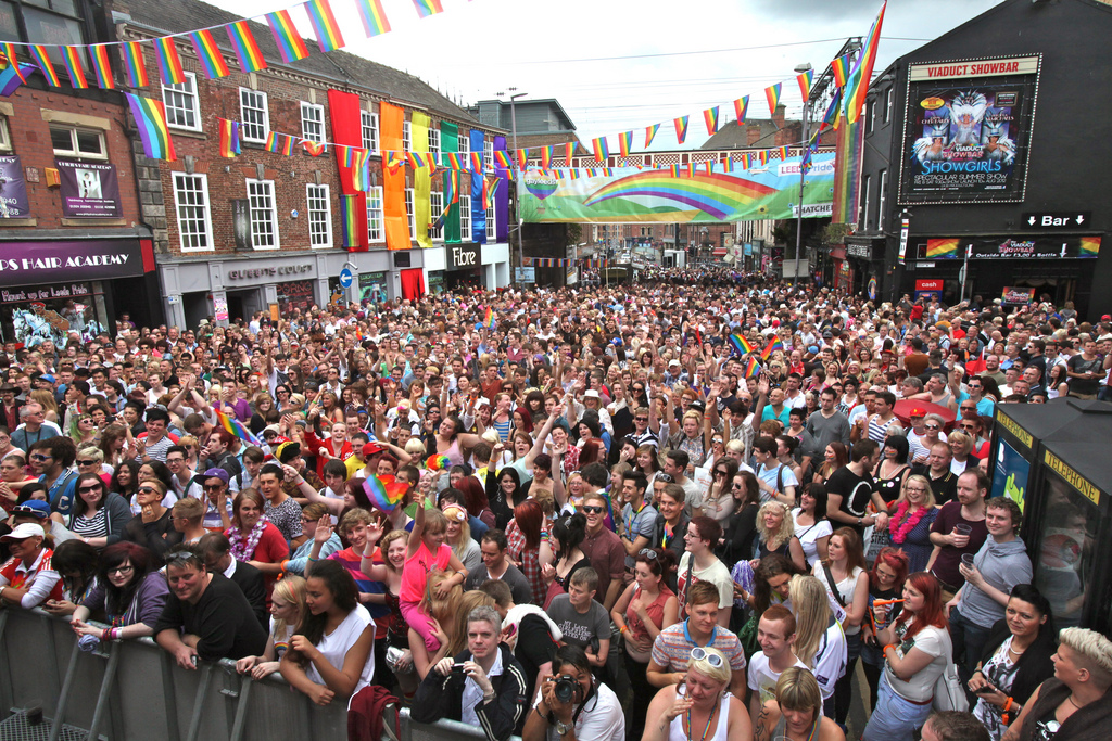 Gay pride attracts tens of thousands of people to the city every August
