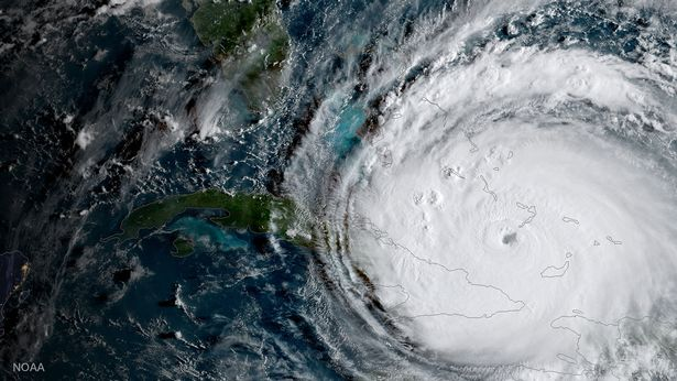 Satellite images show the full scale of hurricane Irma which is causing havoc on its route through the Caribbean and into the state of Florida.