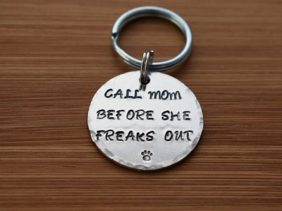 Custom Pet ID tag  by StampedByColleen