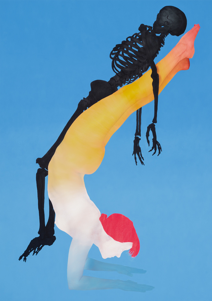 SKELETON WOMAN, 2015   Oil on canvas, 82 x 58 inches