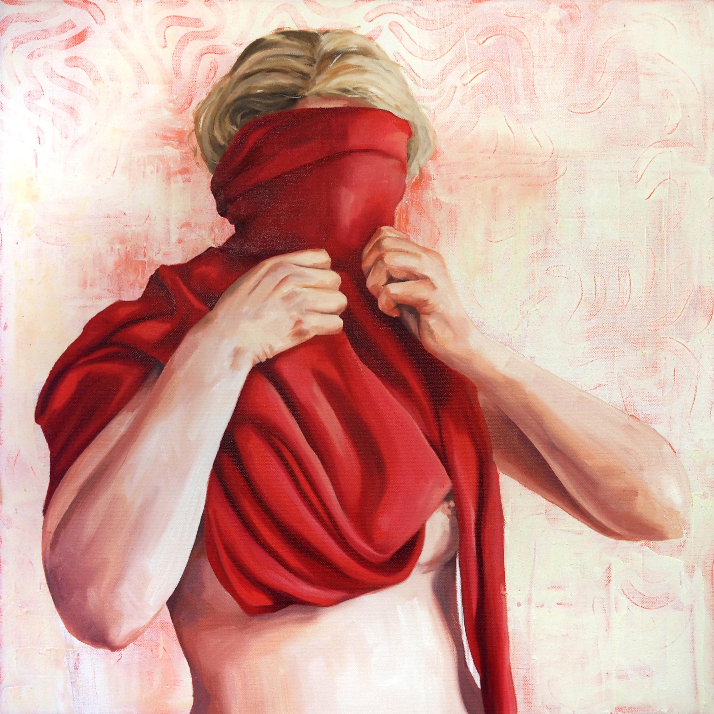"""Try on Feminine"" 24x24 Oil on Canvas"