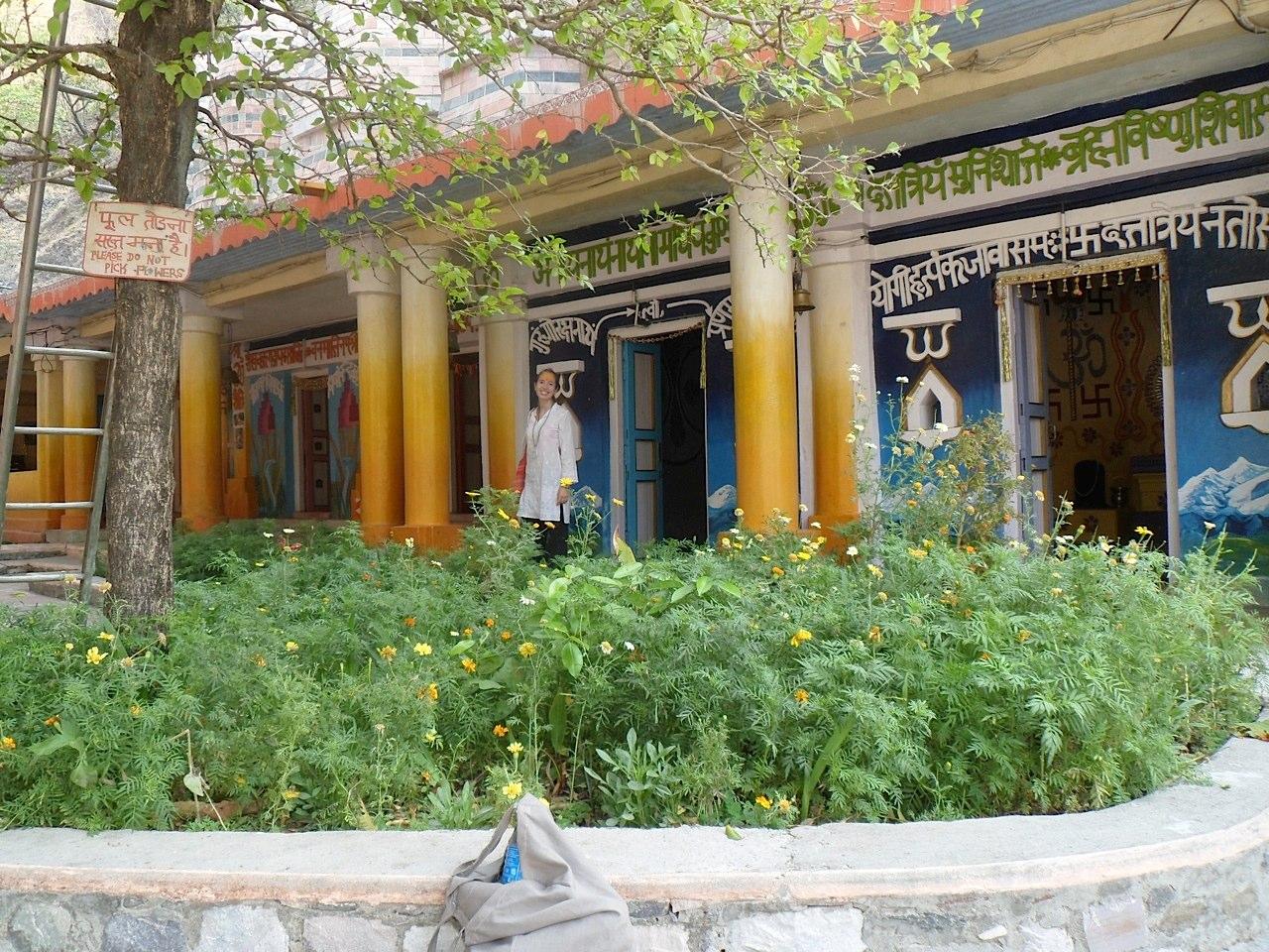 The nine temples at the ashram