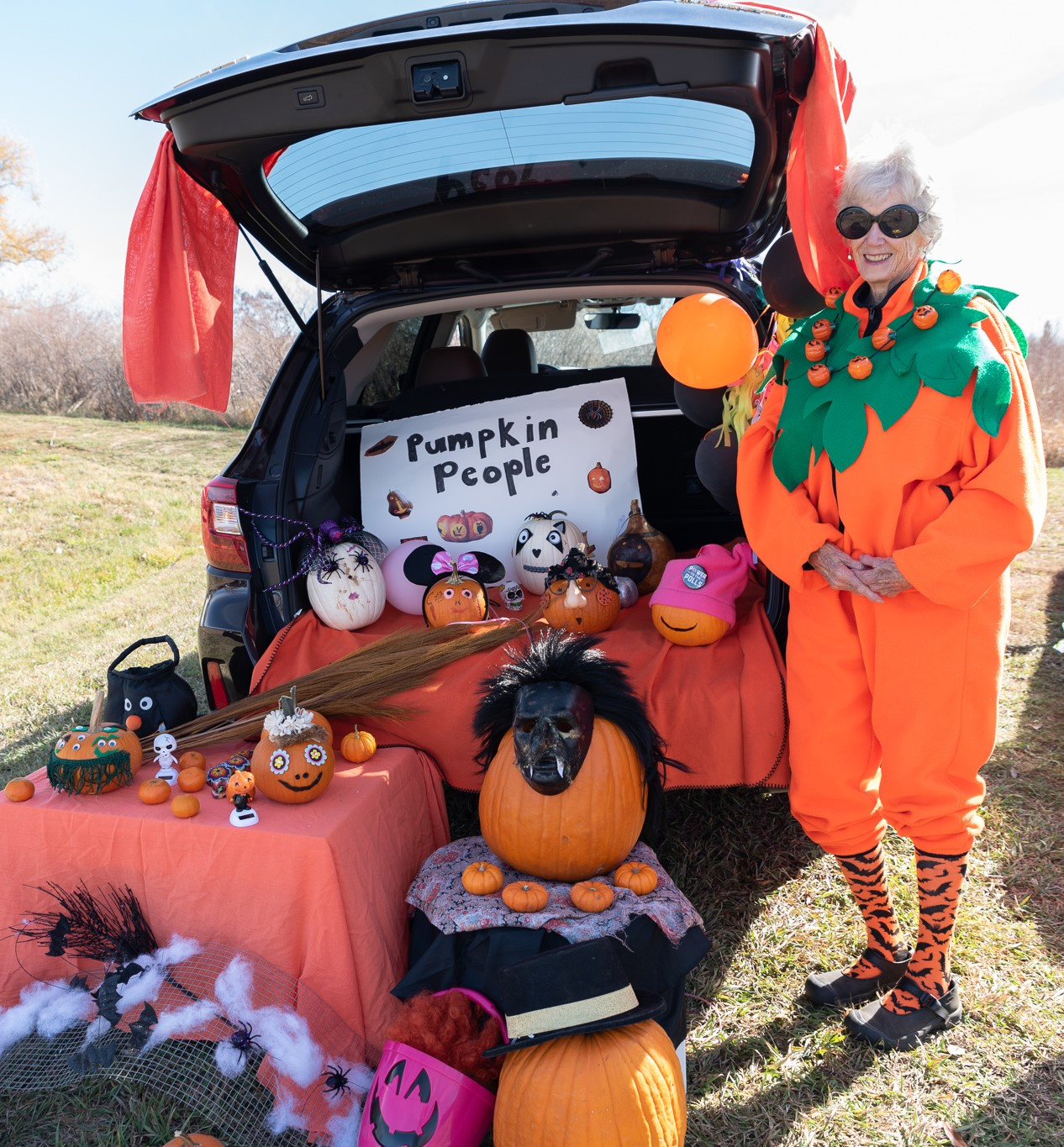 Trunk or Treat! - This is an annual Halloween event at Columbine Unity where we decorate car trunks and give treats to our children.