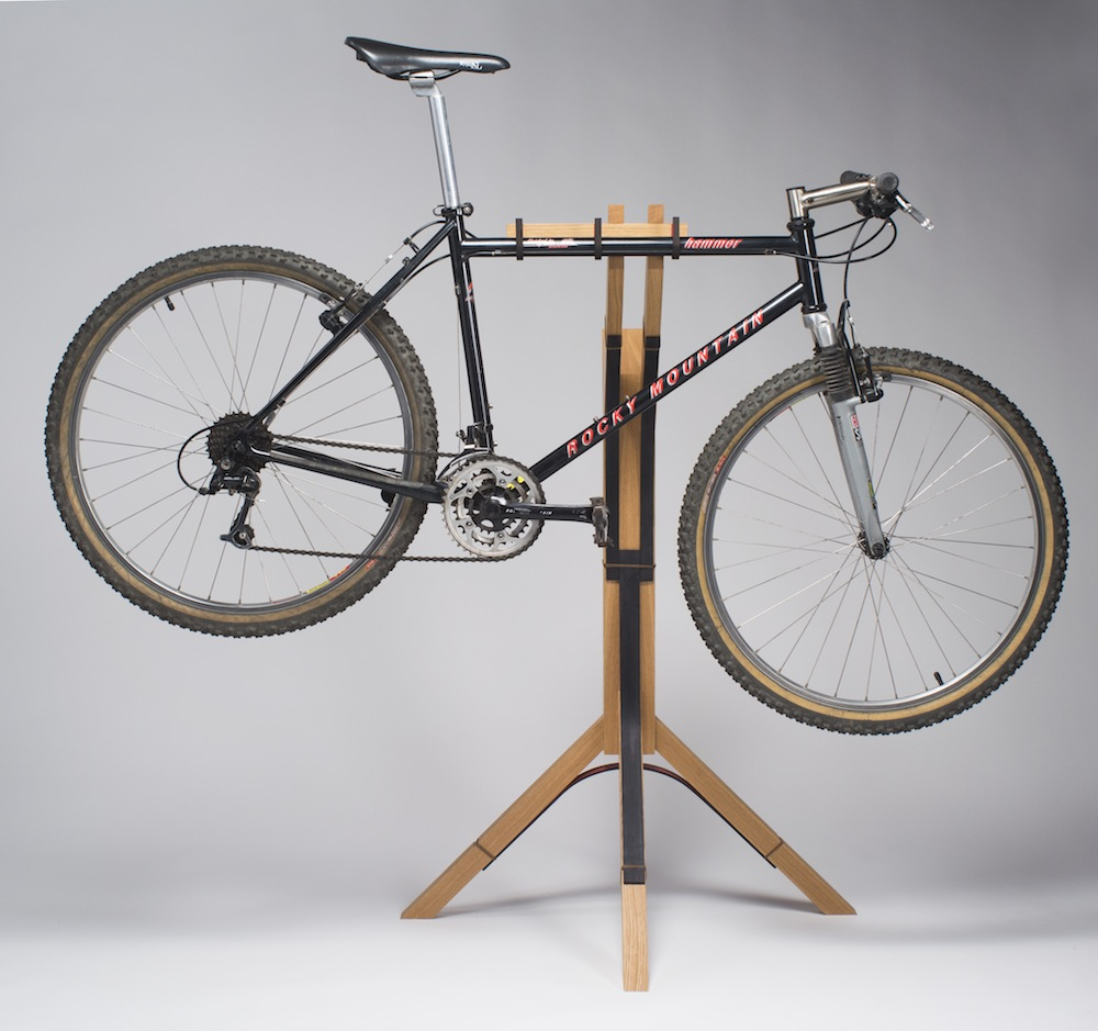 Bike stand in use
