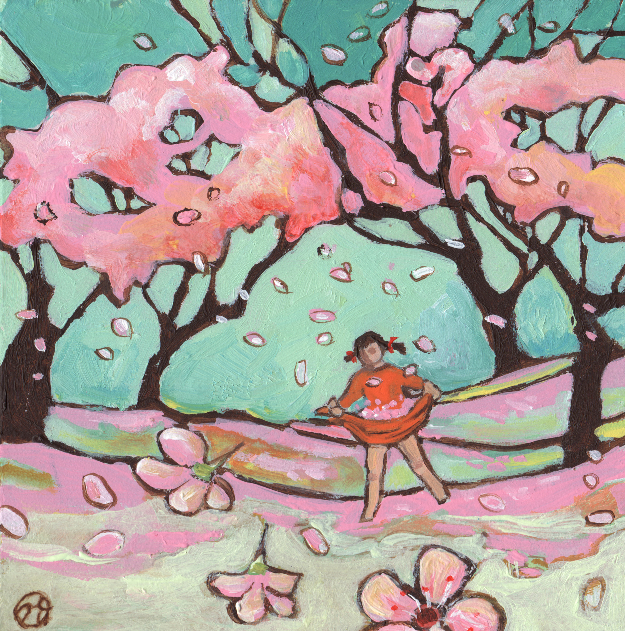 Catching Cherry Blossoms
