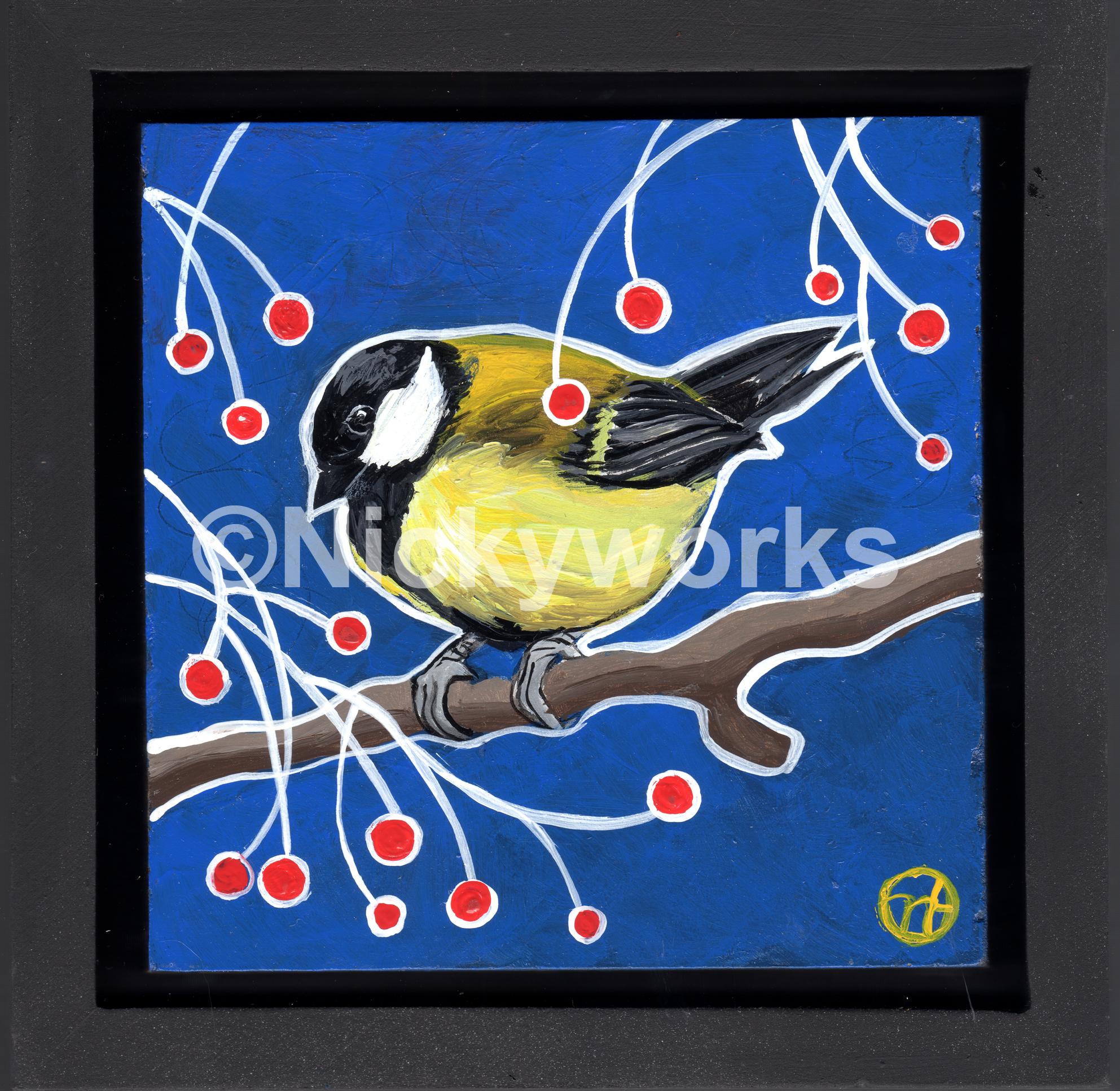Chickadee and Berries II