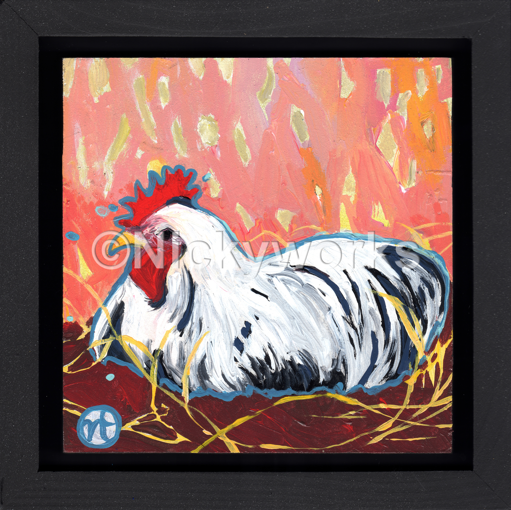 A Sitting Rooster